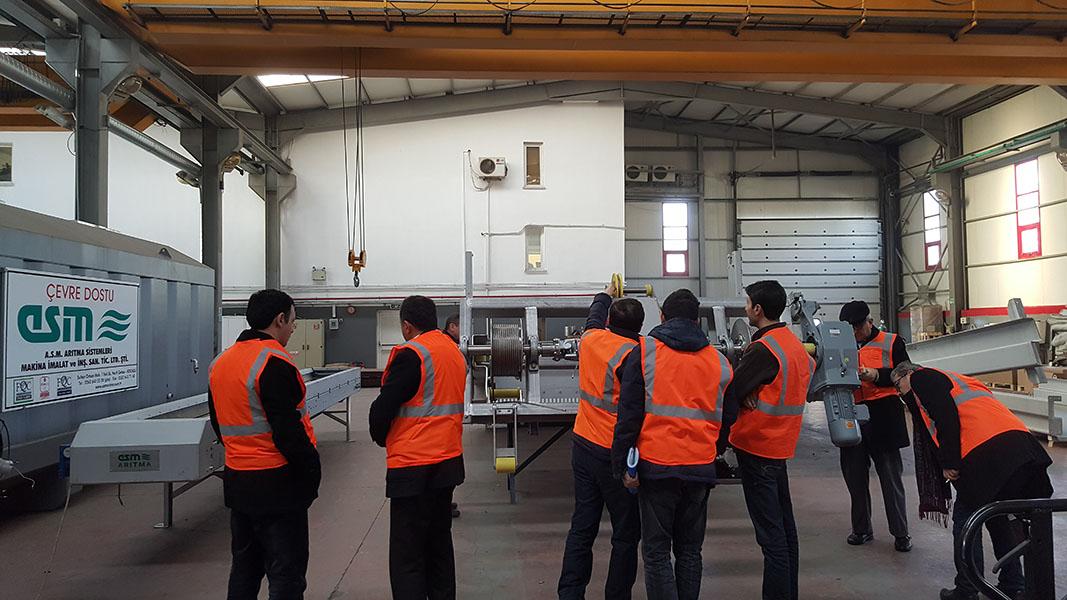İSKİ Heyeti Fabrikamızda Ekipman  Kabulünde