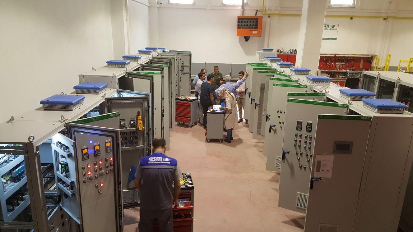 Kepez Atıksu Arıtma Tesisi İkinci Kademe inşaatı işi kapsamında tarafımızca imal edilen mekanik ekipmanlar ve elektrik işleri fabrika kabulü
