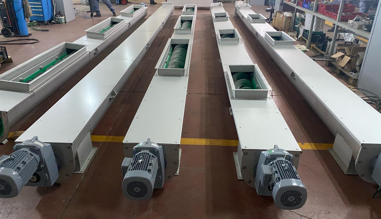 Van Atıksu Arıtma Tesisinin helezon konveyörleri tamamlanmış olup, teslim için son kontrolleri devam etmektedir.